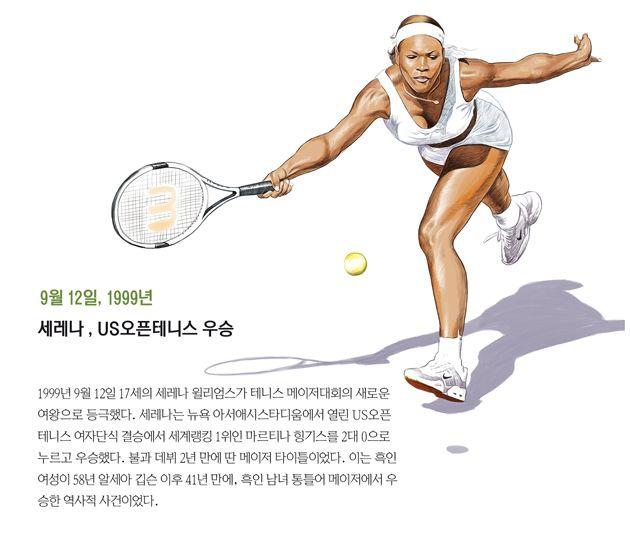 1999년 9월 12일 17세의 세레나 윌리엄스가 테니스 메이저대회의 새로운 여왕으로 등극했다.