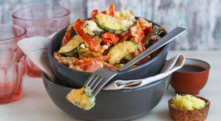 Tempura din vinete, zucchini și ardei — rețeta japoneză de legume pane! - Retete-Usoare.eu