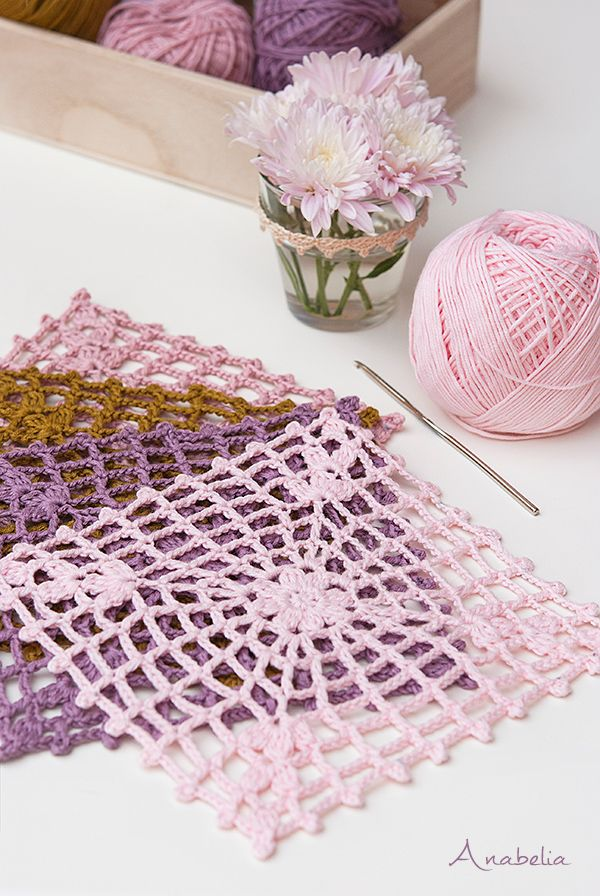Anabelia craft design: New crochet square motif and a new crochet project...