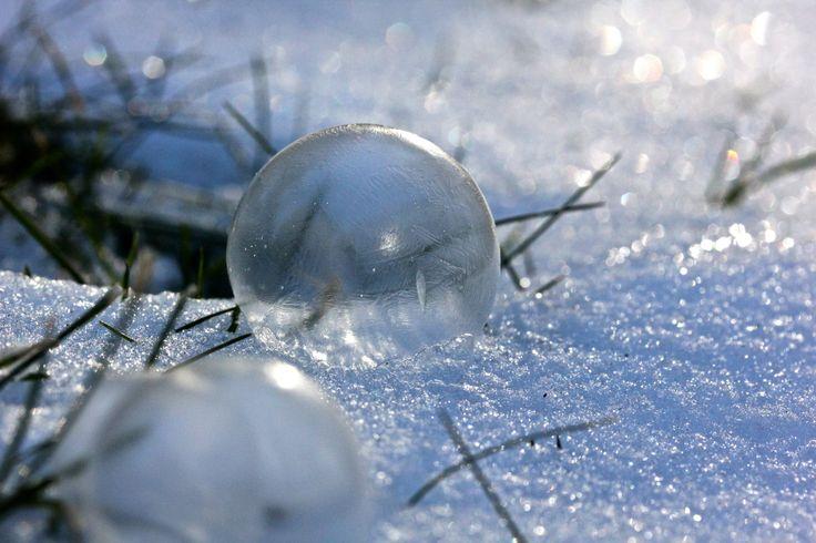 Frozen bubbles. January 2014.