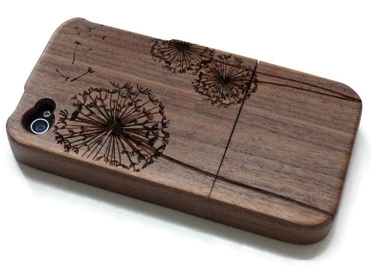 Iphone 4 hülle - Bambus, Kirsche und Nusbaum  von Creative Use of Technology auf DaWanda.com