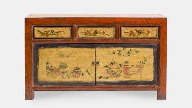 M s de 10 ideas incre bles sobre aparador pintado en pinterest - Mueble chino antiguo ...