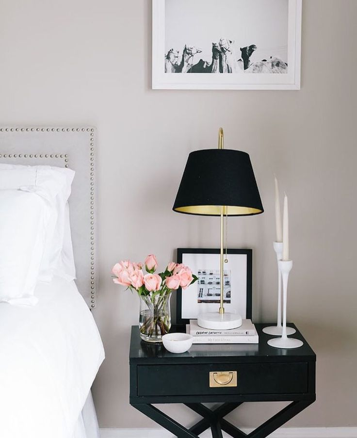 This is totally tempting me to go all 'glamour' on our master bedroom. Photo by @theeverygirl_