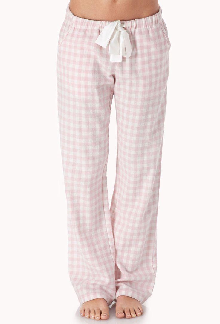 Sweet Gingham PJ Pants | FOREVER21 Sleeping gingham style #Pajamas #WishPinWin #ForeverHoliday