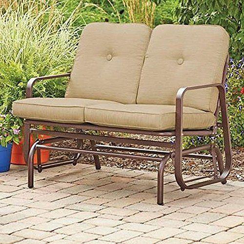 Outdoor Glider Bench Patio Garden Furniture Porch Loveseat Rocking Deck Yard #OutdoorGliderBench