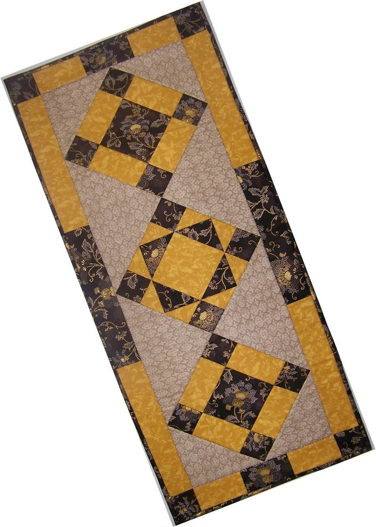 80 best images about quilted table runner patterns on for Table runner quilt design