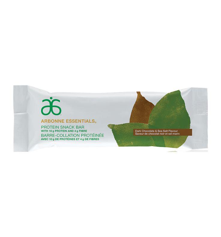 Barre-collation protéinée Arbonne Essentials® – Chocolat noir et sel marin #6097 - Arbonne