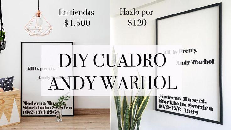Nuevo DIY en el blog y en mi canal de YouTube! Hice el cuadro con la famosa frase de Andy Warhol por sólo $120.Ciento veinte pesos argentinos! Una locuraaaaa. En tiendas de decoración lo cobran $1.500 y en Europa la sola lámina sin marco ni nada te la cobran entre 68 y 80 Euros! Así que mis queridos Makers por fin siento que estoy llevando esto del Do it yourself a otro nivel y ustedes vienen conmigo. Porque en el tutorial están todos los detalles para que lo puedan hacer en sus casas. En el…