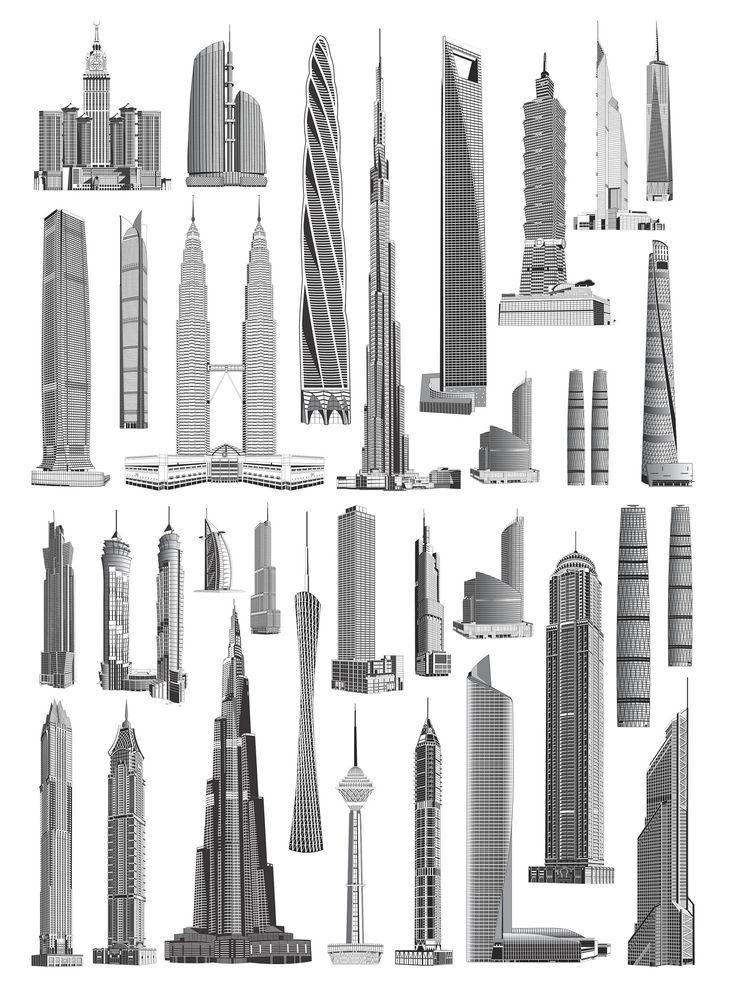 Skyscrapers_vectors_01.jpg (2113×2829)