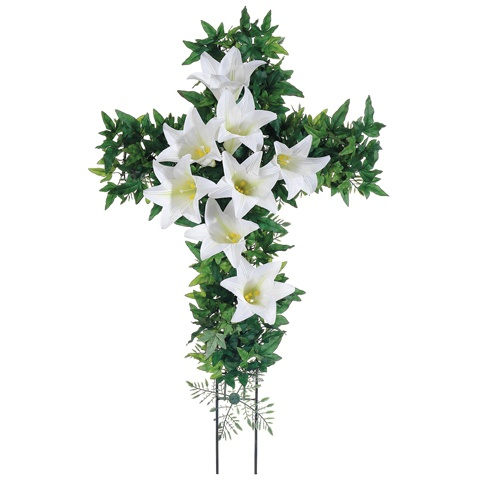 15 best easter lily board images on pinterest backyard ideas cross decorated with easter lilies negle Choice Image
