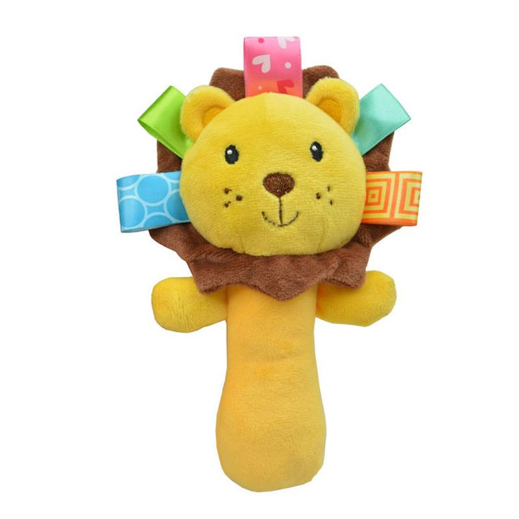 Sozzy Cute Cartoon Animal Musical Baby Rattle Plush Infant Baby Toys Baby Rattle Cute Toy For Newborn Baby Infant 11-162