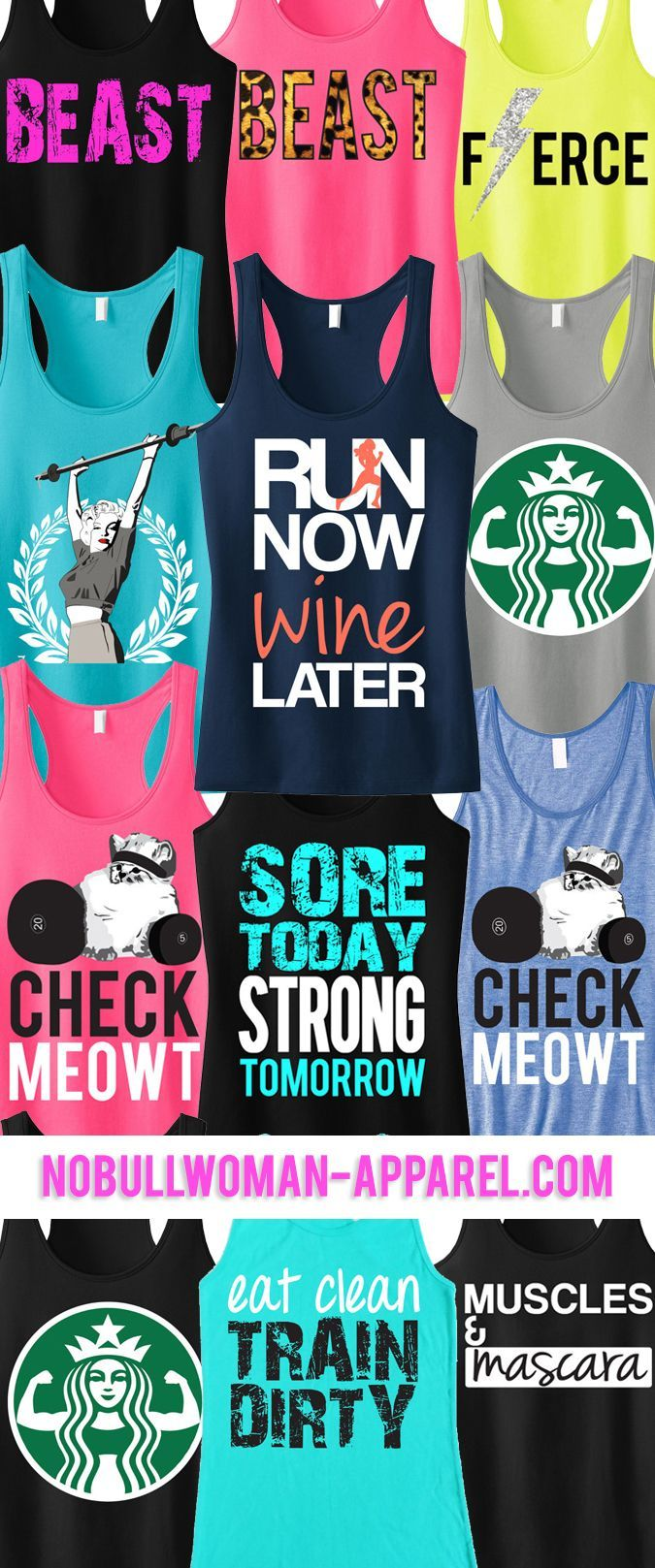 Look Great and Motivate with New #Workout Tanks. Pick ANY 3 and save 15%. Only $63.95! Click here to see them all http://www.nobullwoman-apparel.com/collections/sale-special-deals/products/3-workout-fitness-tank-tops-15-off-bundle-workout