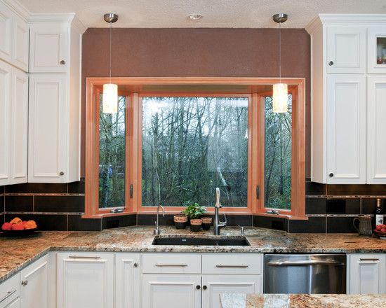 Box window for kitchen with a little extra space behind for Bay window ideas kitchen