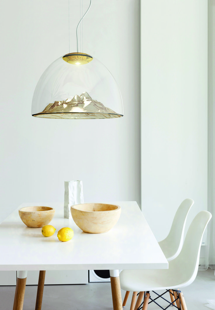 The Hills are Alive... with the light of high-tech LEDs! With the Mountain View pendant light by Axo Light, you can have a bit of the Alps right above your dining table! We are offering a great discount on ALL OUR LIGHTS on LightingDeluxe to everyone who answers today's question behind the last-but-one door of our Advent Calendar. Get the voucher now! #mountains #glass #thesoundofmusic