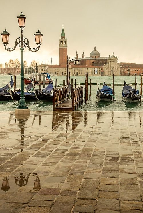 Venice, Italy and a world of water.  Gondola rides, Bridge of Sighs, Gelato in St. Marks, ceramic Masks everywhere, no cars to drive you crazy, Pigeons everywhere in St. Marks, shops, shops, shops.  Glassware, wonderful people, I'm definitely going back.