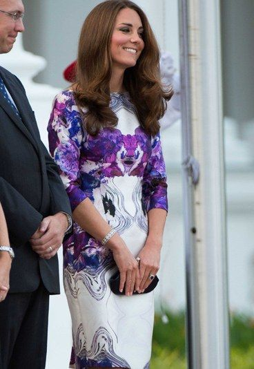 Tag 1: Kate im Istana Palast - Kate Middleton Outfits - Vom Botanischen Garten zu den Istana-Palast in Singapur. Am Abend waren Kate und William hier von Präsident Tony Tan und Ministerpräsident Lee Hsien Loong zum Staatsbankett geladen...
