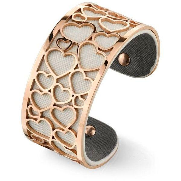 Belk Silverworks Rose Gold Tone Filigree Multi Heart Cuff Bracelet 32 Liked