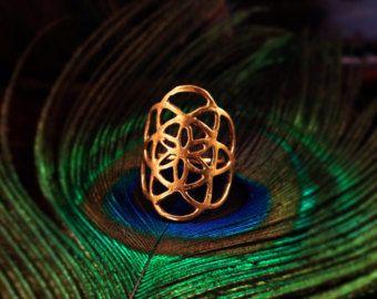 Daumen-Ring Heilige Geometrie Ring Schaffung Ring von DoronJewelry