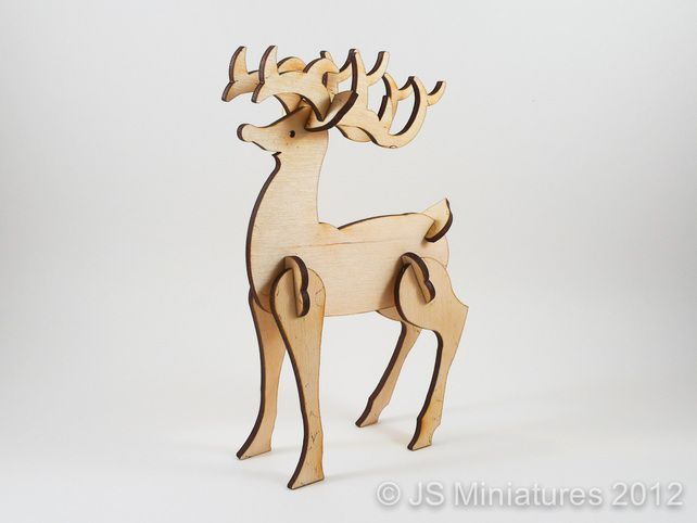 16 Best 3d Reindeer Templates Images On Pinterest