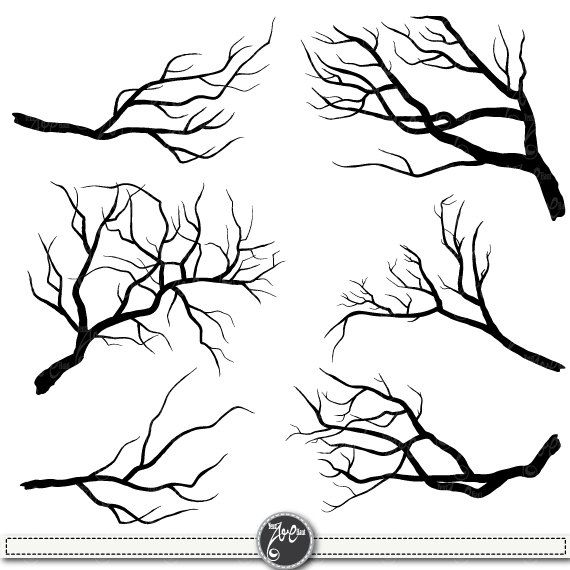 "Branch Silhouettes Clipart""BRANCH SILHOUETTES"" clip art pack,Tree Branchs,Branchs,Silhouettes,Branch,Scrapbook, Instant Download Sh001"