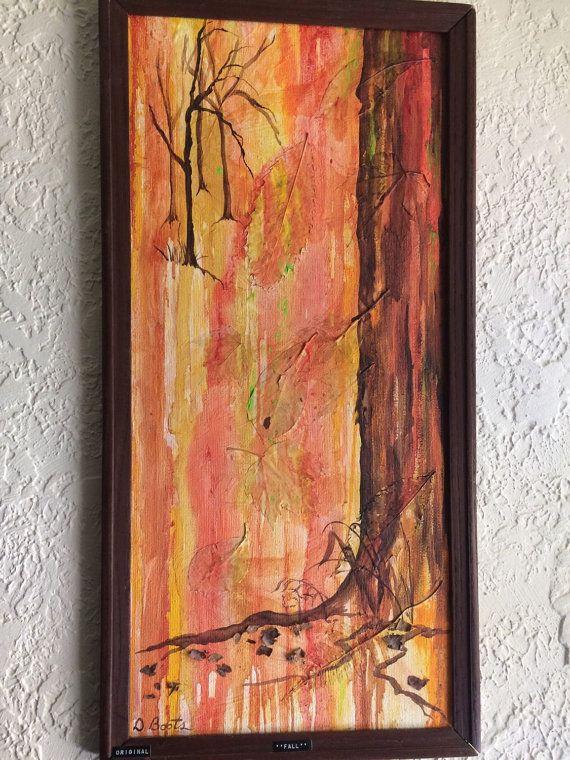 Art/ Oil Paints/ acrylic/Original fall paper mâchè by AtRaYaLsLoOt