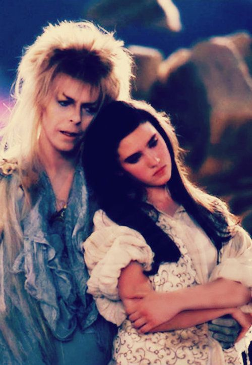 David Bowie and Jennifer Connelly Labyrinth | The ... Labyrinth Movie Sarah Dress