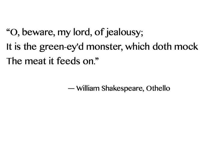 the dangers of jealousy in othello a play by william shakespeare Start studying othello by william shakespeare act iii learn vocabulary, terms, and more with flashcards, games, and other study tools.