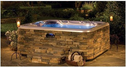 9 Best Built In Hot Tub Images On Pinterest Decorations