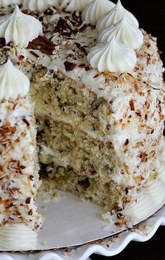 Italian Cream Cake...despite the name, its actually a Southern USA dish!