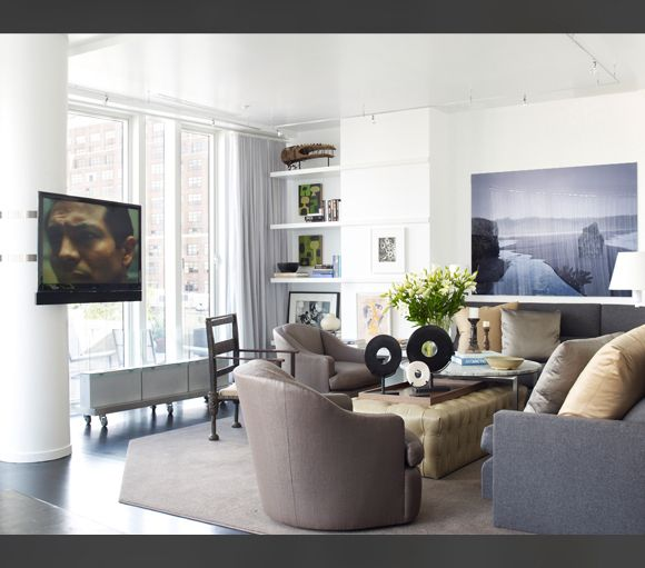 City Living New York Living Room Spaces NYC Pinterest Wolf
