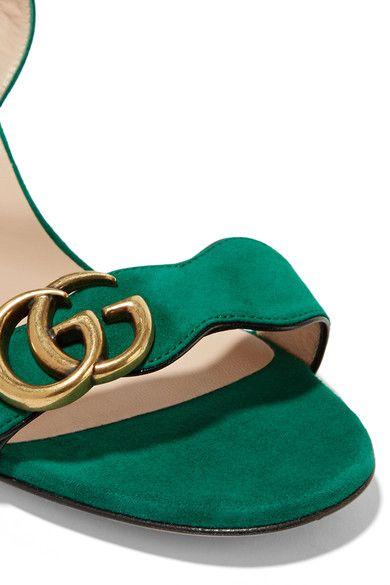 Gucci - Suede Sandals - Dark green