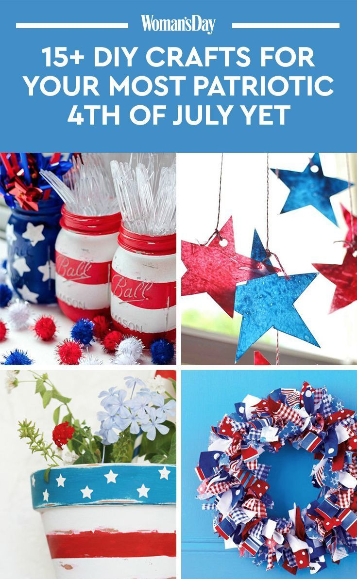Get Ready For Your Most Patriotic Party Ever With These 4th Of July Crafts July Crafts Patriotic Crafts 4th Of July Decorations