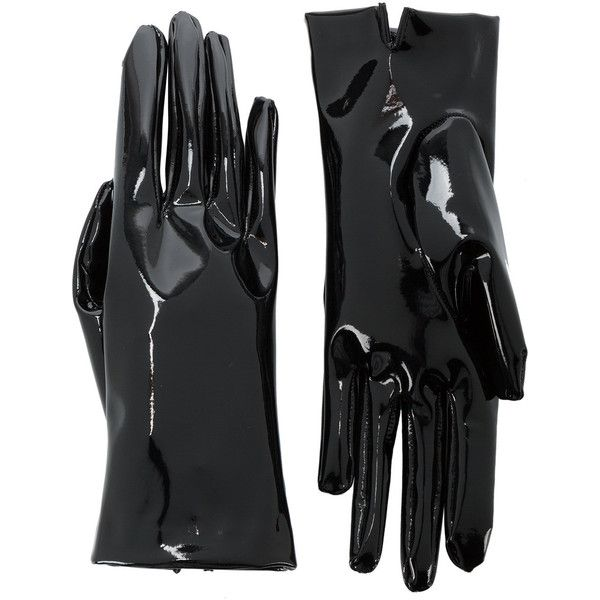 Gucci latex gloves (1.345 RON) ❤ liked on Polyvore featuring accessories, gloves, gucci, black, latex gloves and gucci gloves