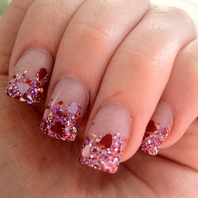Valentine's Day nails! Thanks Christy!                                                                                                                                                                                  More