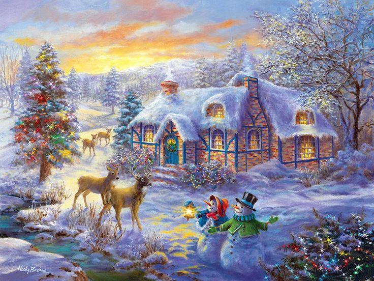 Пазл Рождественские каникулы — собрать пазл онлайн