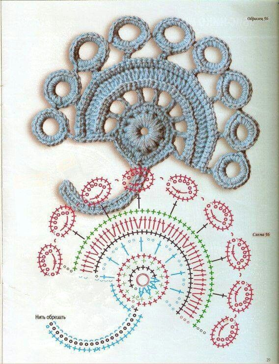 Irish Crochet - Chart ❥ 4U // hf