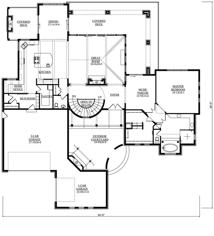 La madera mediterranean home outdoor fireplace plans for House plans with fireplace in master bedroom