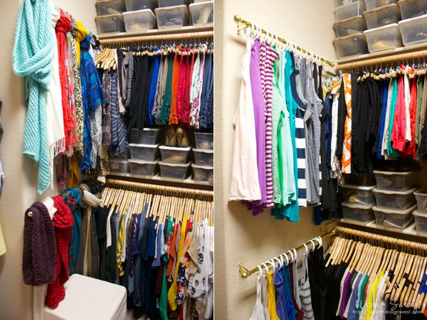 Check out the tip for hanging tank tops, great idea for the summer.