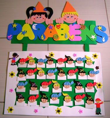 MUNDINHO DA EDUCAÇÃO INFANTIL: Painel de aniversário...