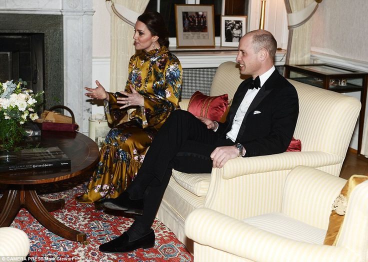 The British royals meet Swedish Prime Minister Stefan Löfven and his wife Sulla Löfven ahead of the event on Tuesday night
