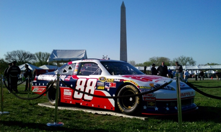 PHOTOS (April 9, 2012): No. 88 Chevrolet debuts patriotic scheme. More: http://www.hendrickmotorsports.com/news/photos/2012/04/09/No-88-Chevrolet-debuts-patriotic-scheme#.Dale Jr, Dale Earnhardt Jr, Stars Cars, Nascar United, Patriots Cars, Families Nascarnew, Nascar Driver, Military Families, Celebrities America