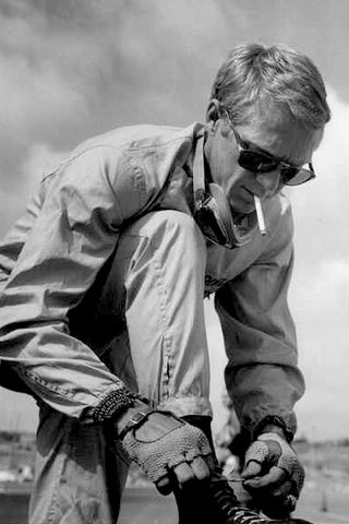 The legend that is Steve McQueen looking rather slick with his shades on!