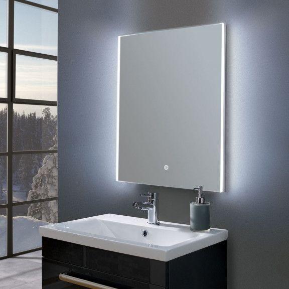 Style Ultra Slim Portrait Led Illuminated Mirror 600 X 800mm Bathroom Mirror Easy Bathroom Decorating Mirror