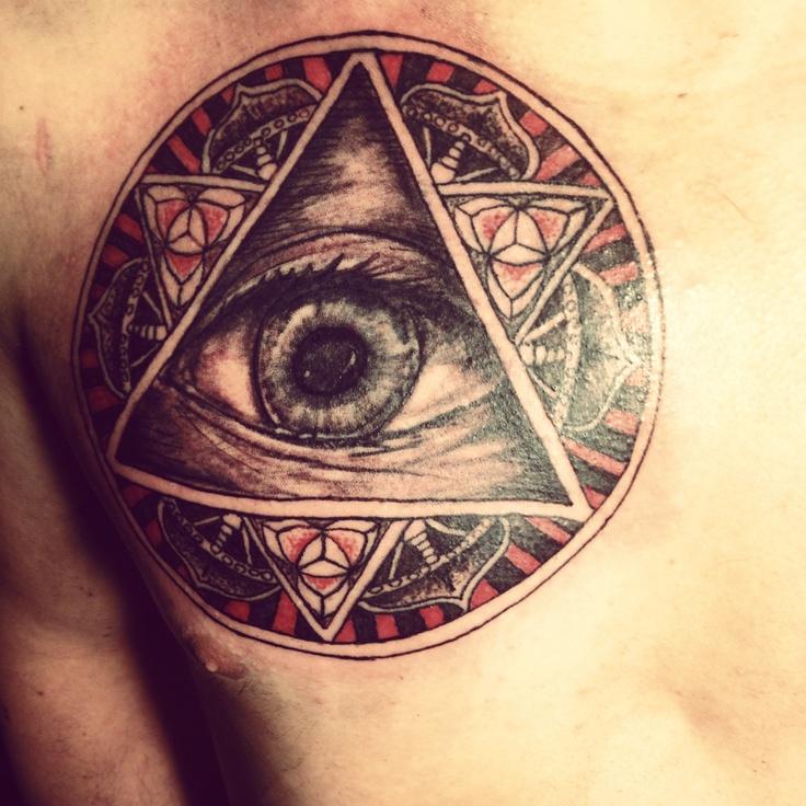 треугольник с глазом фото тату яснее становится ситуация