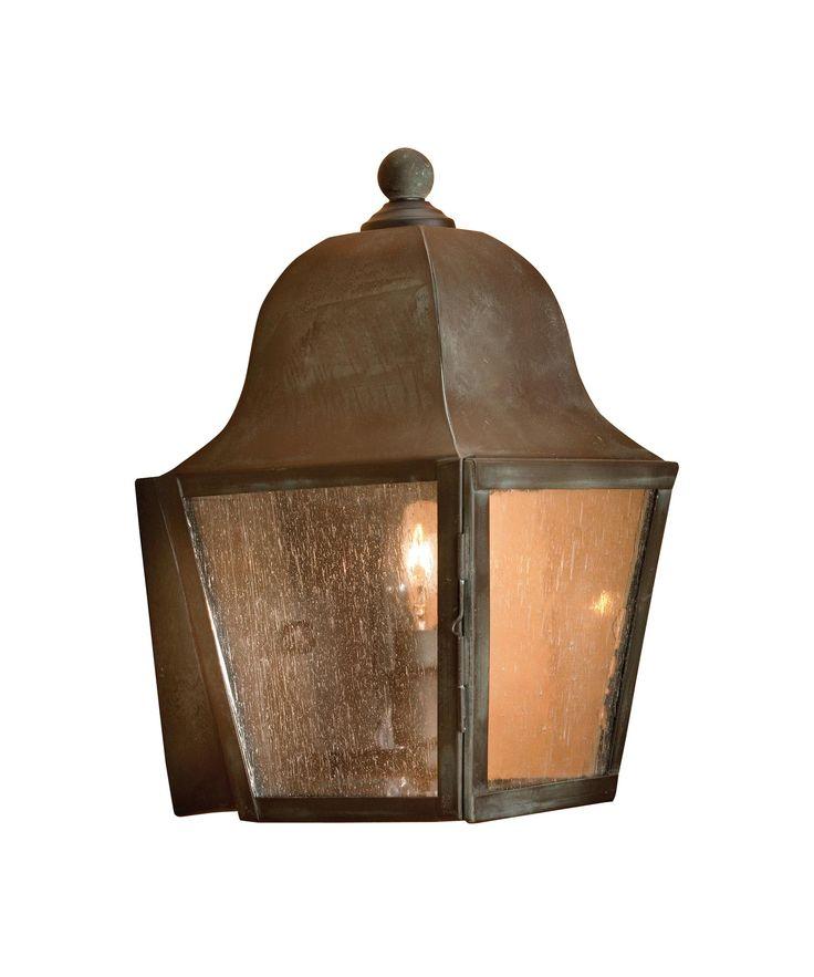 "Artistic Lighting 5330 Belmont 1 60 watt torpedo bulb. 1-800lighting.com. 6"" W x 11"" T projects 7"". Charcoal metal and seeded glass. 218."