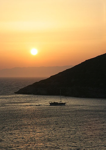 Sunset on the tiny island of Marathi was just one of the wonderful sites and experiences on our sailing trip with Seascape SailIng in Greece.