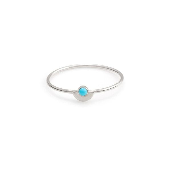 Half Moon Ring Silver // Turquoise http://store.sarahandsebastian.com/products/half_moon_ring_silver_turquoise