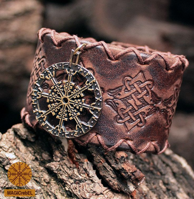This is a real solid bronze hand-crafted antique finish pendant and genuine leather bracelet. The two-in-one bracelet and pendant: you can wear them together as a bracelet or wear the leather bracelet and bronze pendant separately.  Aegishjalmur, or the Helm of Awe, is an Icelandic magical symbol of protection.  #magicrebel #bronze #aegishjálmur #helm #awe #futhark #vikings #amulet #pendant #talisman #leather #bracelet
