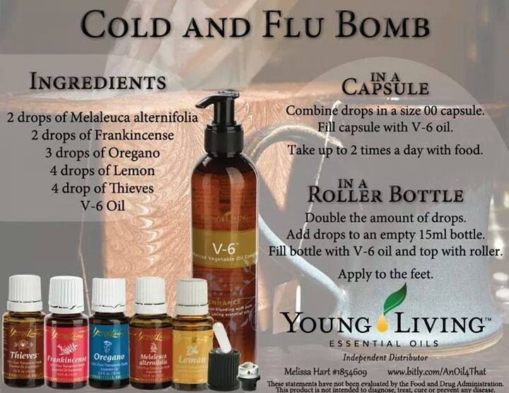 Young Living Essential Oils: Cold Congestion Cold Fever Flu                                                                                                                                                                                 More