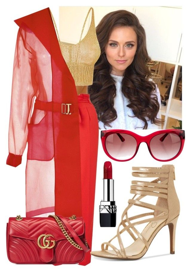 """""""Super Rich Kids."""" by queenboldon on Polyvore featuring Miss Selfridge, Amba, Thierry Lasry, Jessica Simpson, Gucci and Christian Dior"""